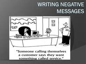 WritingNegativeMessages
